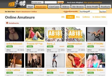 Amateure bei PornMe